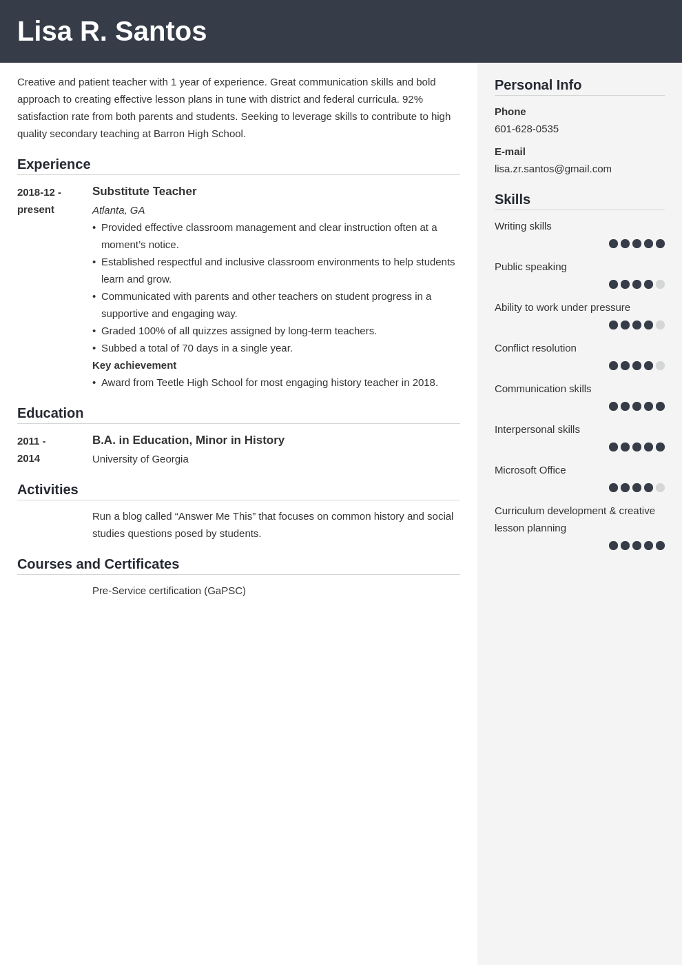 new teacher resume example template cubic