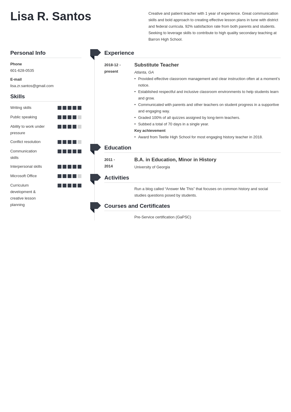 new teacher resume example template muse