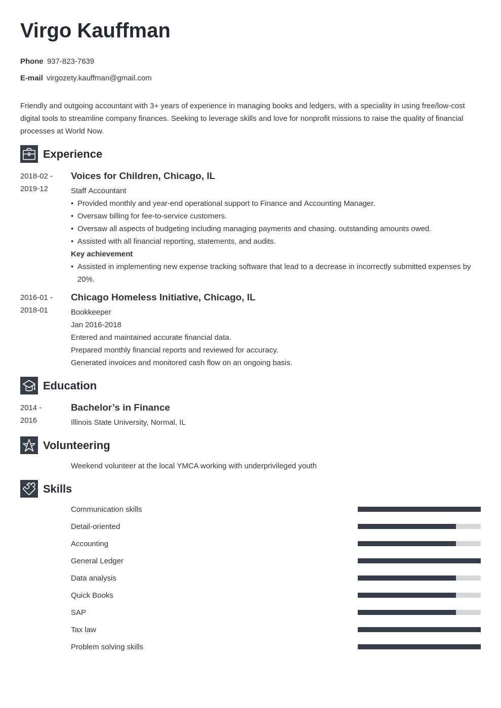 non profit resume example template newcast
