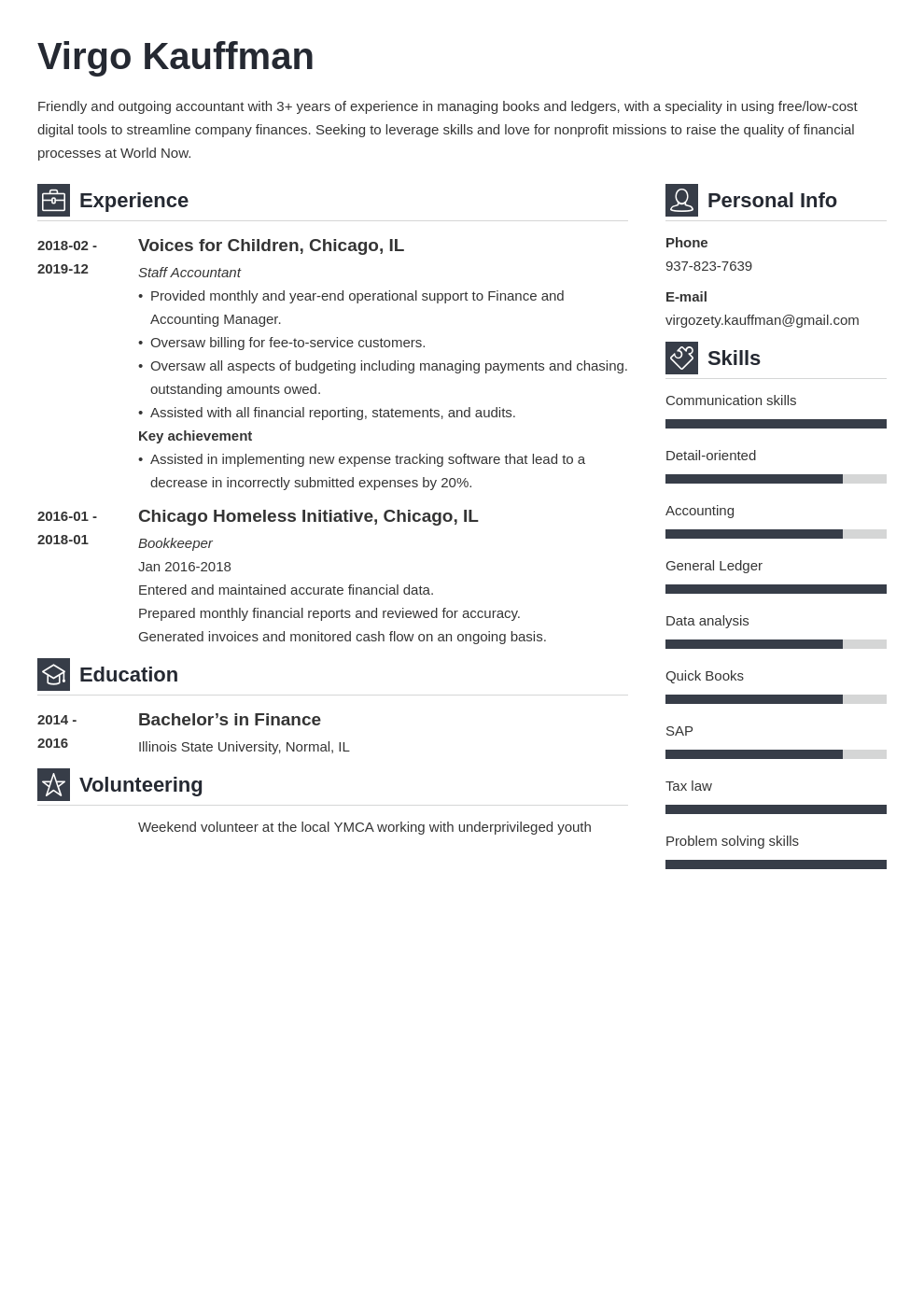 non profit resume example template vibes
