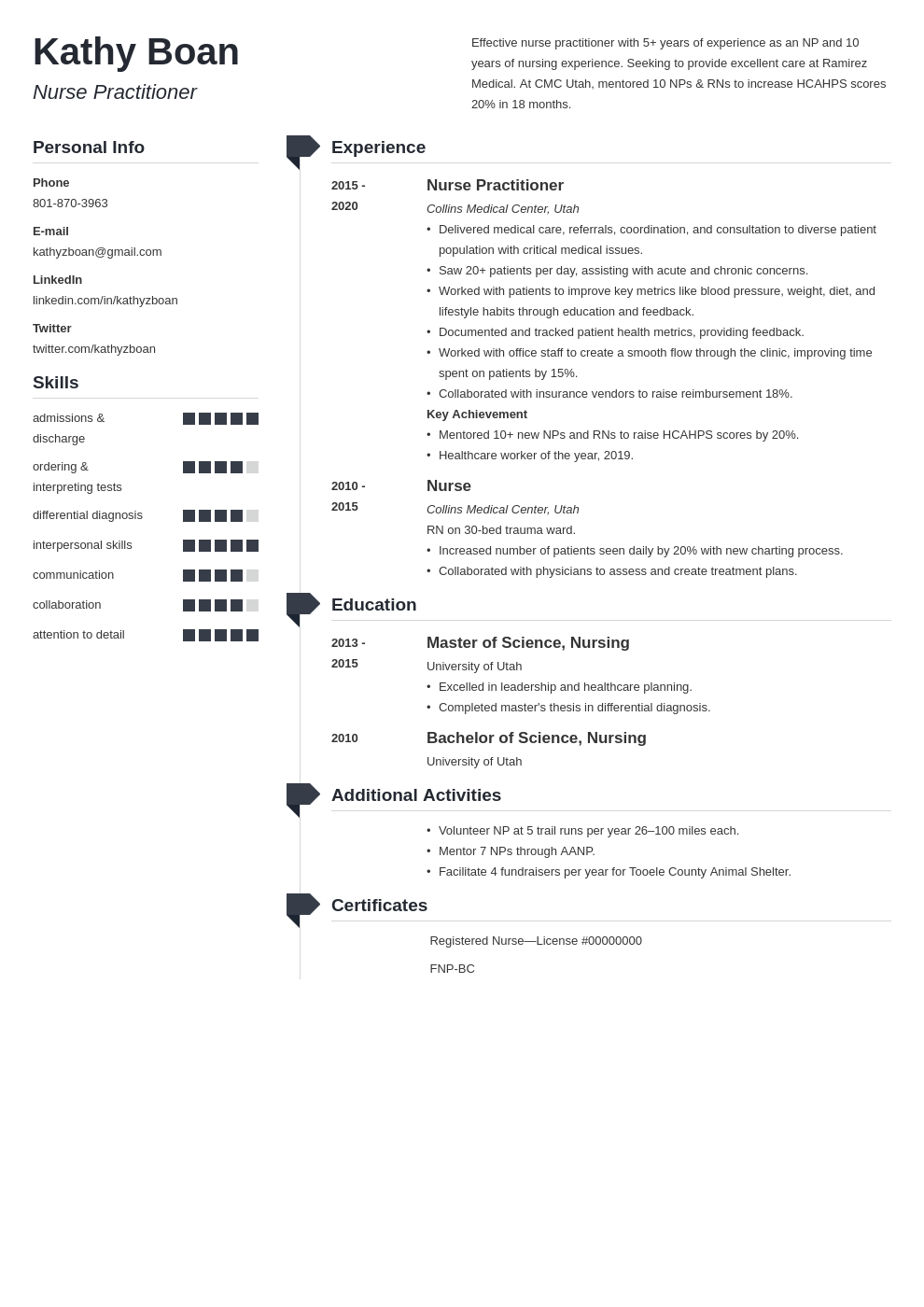 nurse practitioner resume example template muse