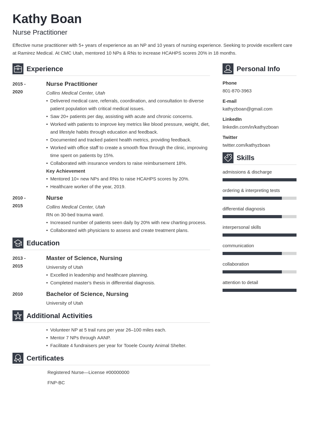 nurse practitioner resume example template vibes