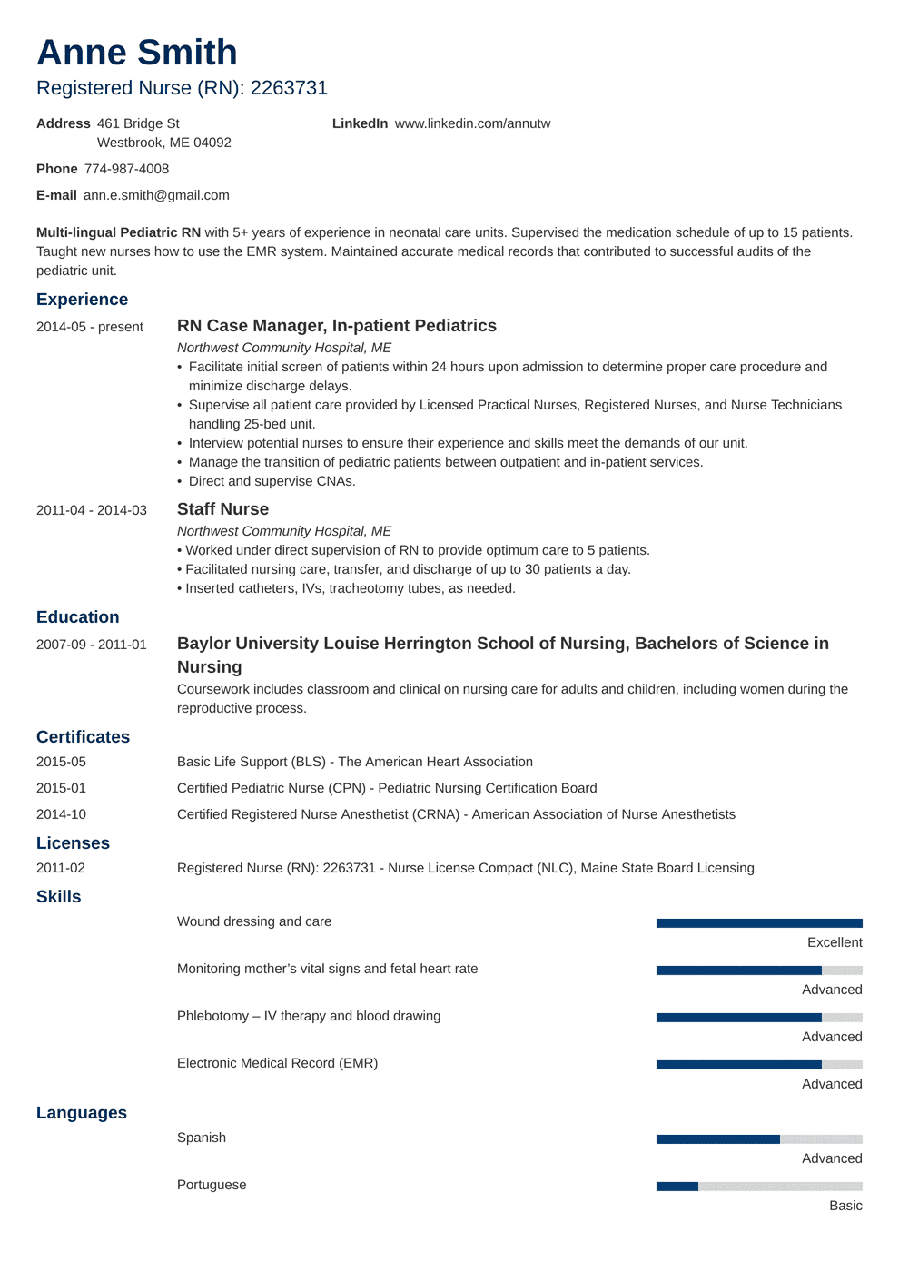 20+ Nursing Resume Examples (Template, Skills & Guide)