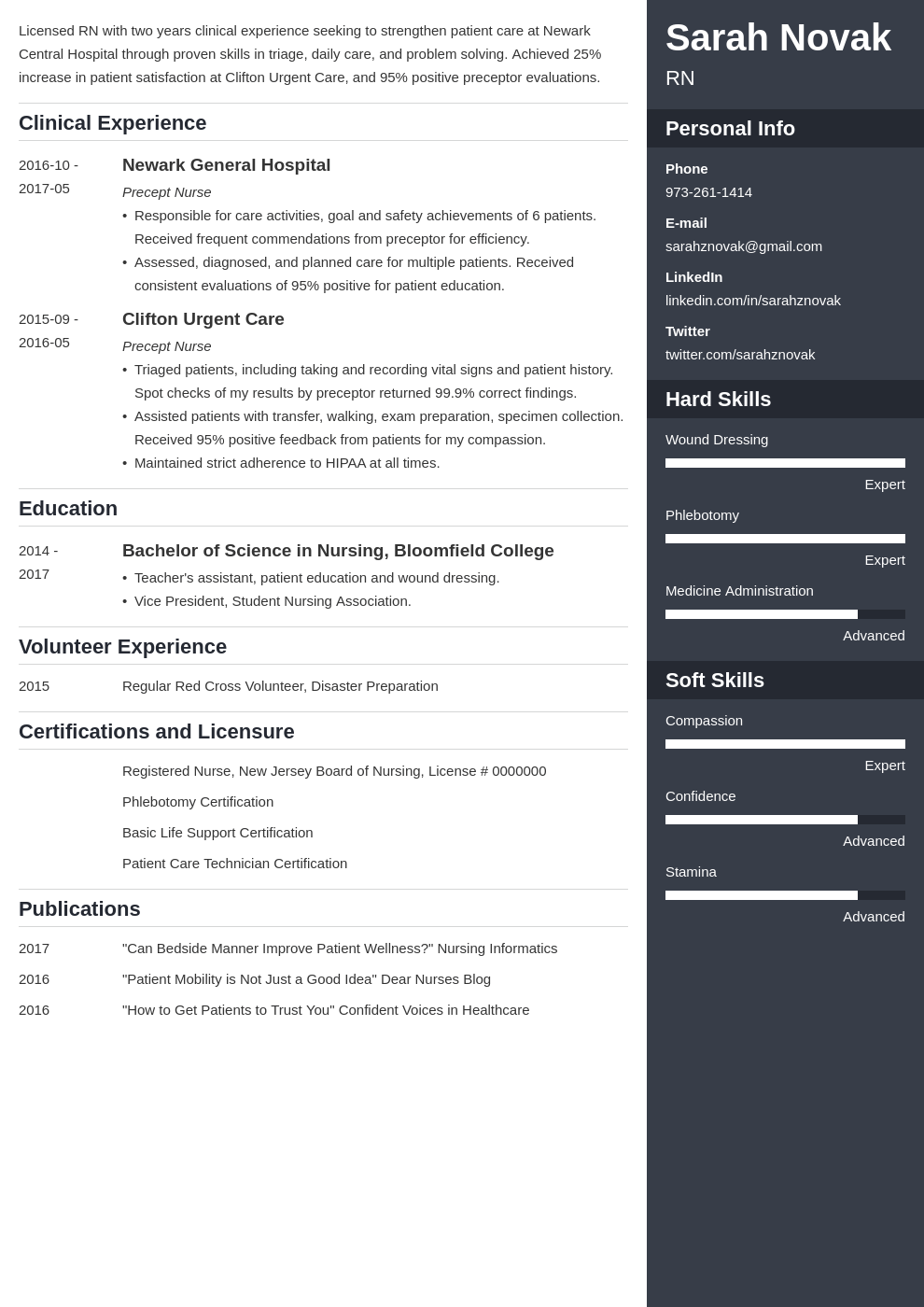 nursing student resume example template enfold