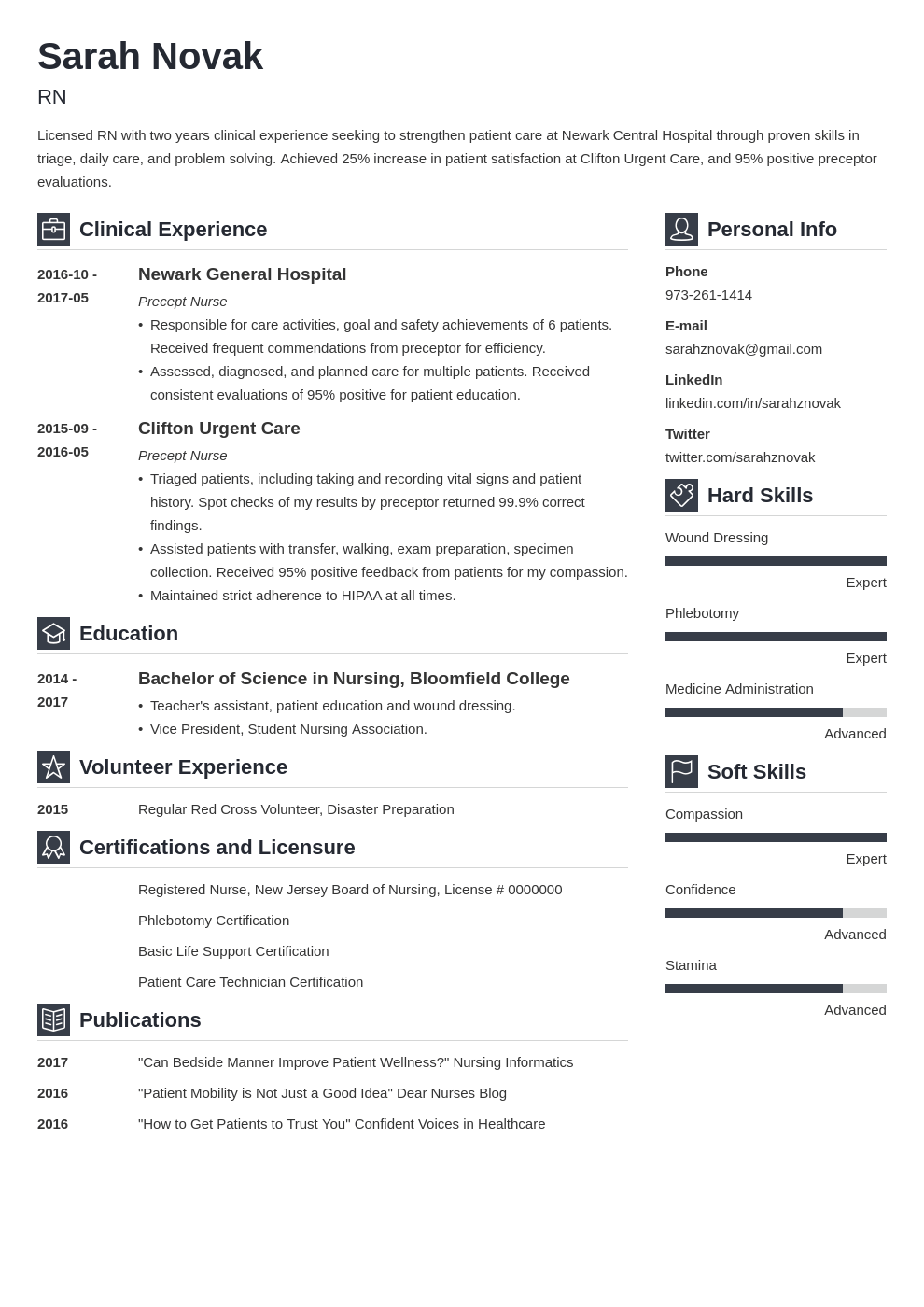 nursing student resume example template vibes