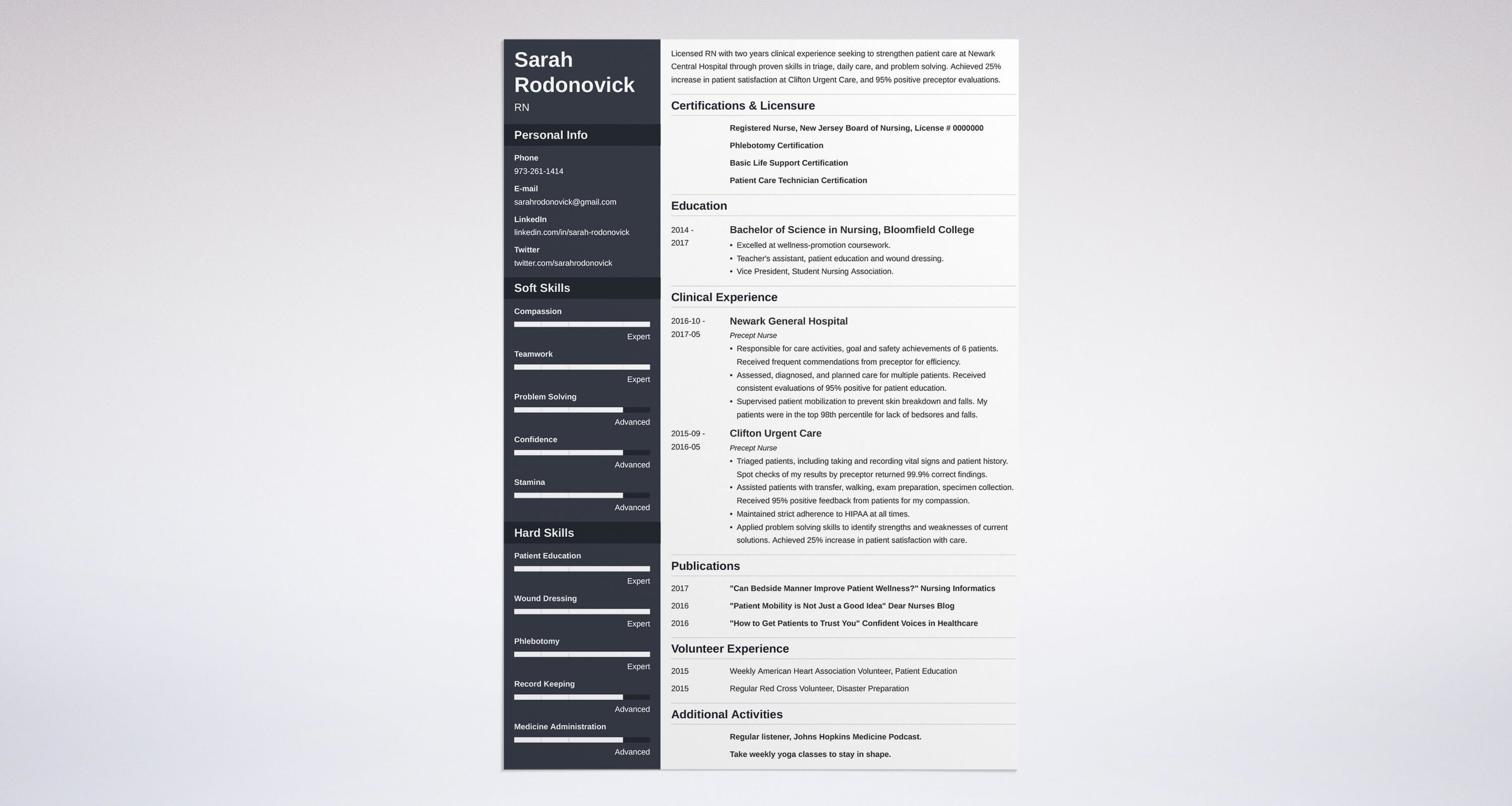 nursing student resume guide with a sample 20 examples - Resume Samples For Nursing Students