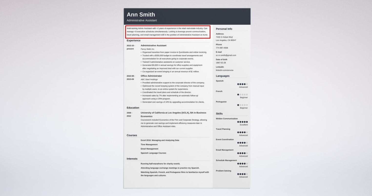 Superior Objective On Resume With Great Layout Idea Resume Layout