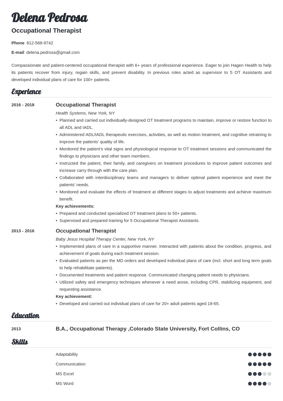 Cover Letter For Occupational Therapist Job from cdn-images.zety.com