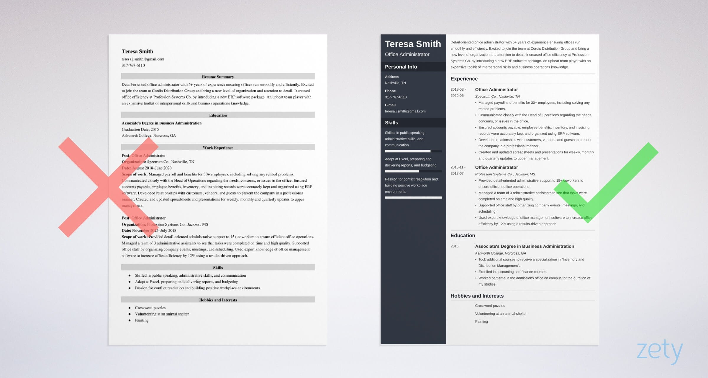office administrator resume templates
