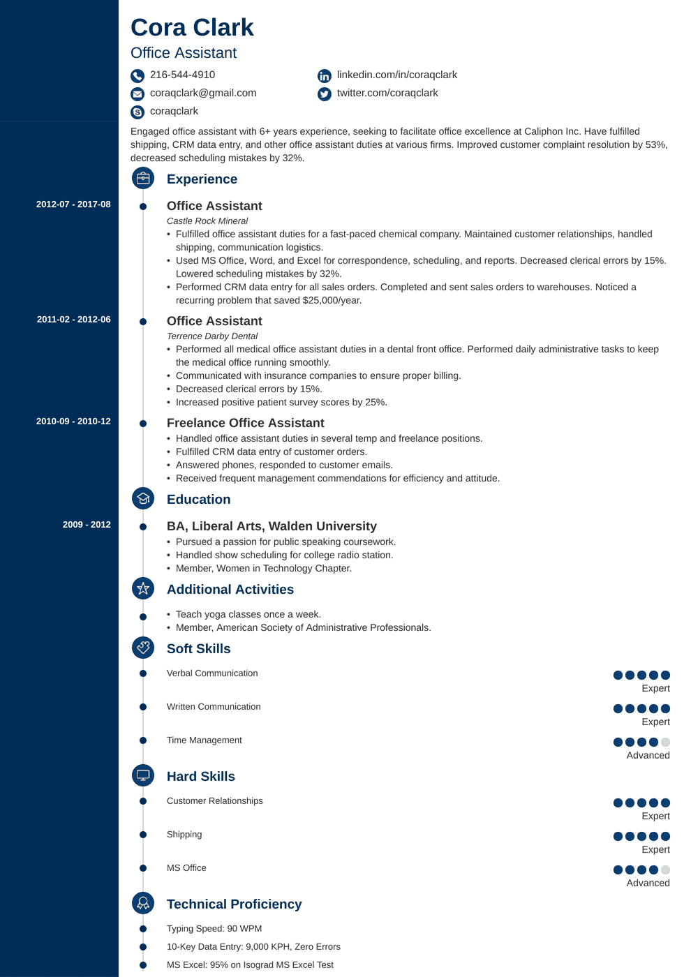 Office Assistant Resume: Sample & Complete Guide [+20 Examples]
