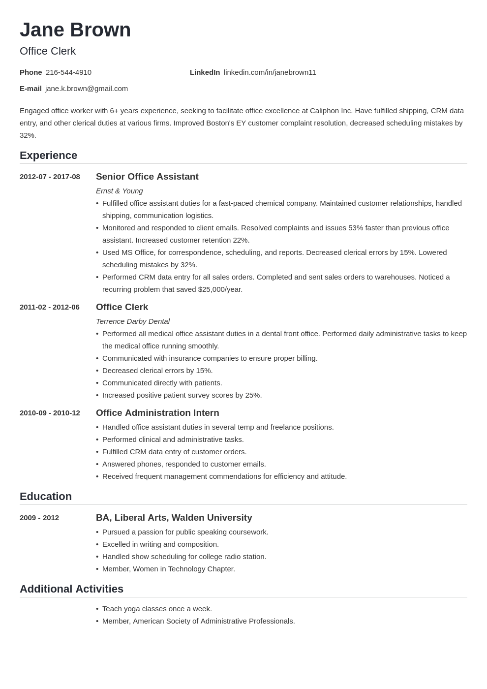office clerk resume example template nanica