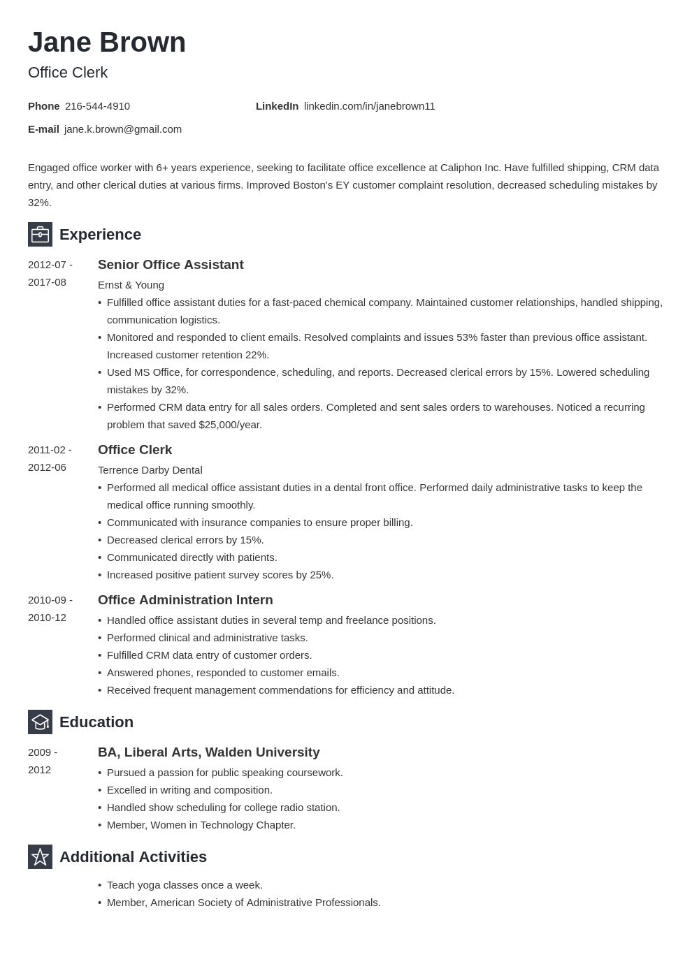 office clerk resume example template newcast