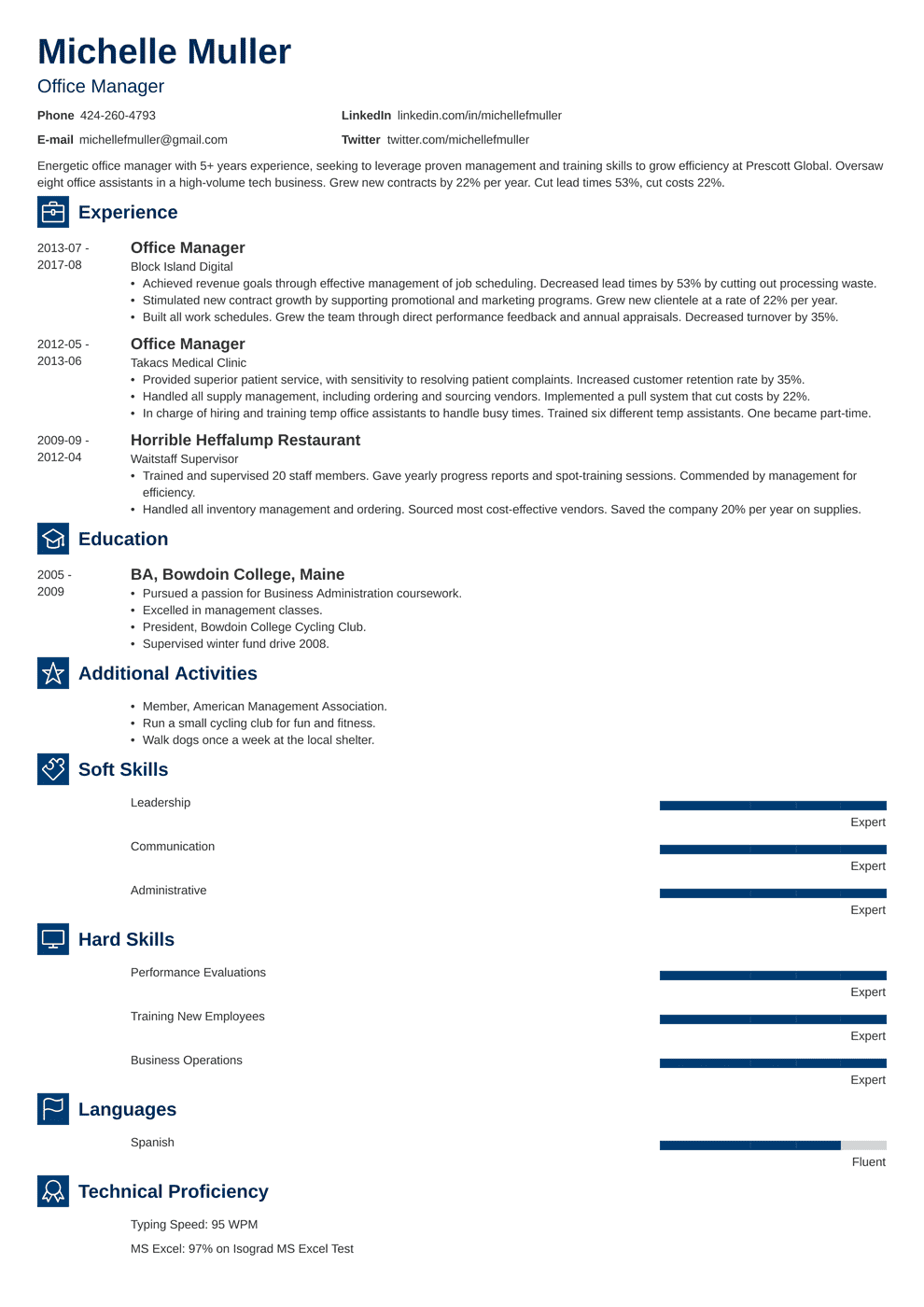 Office Manager Resume: Sample & Complete Guide [+20 Examples]
