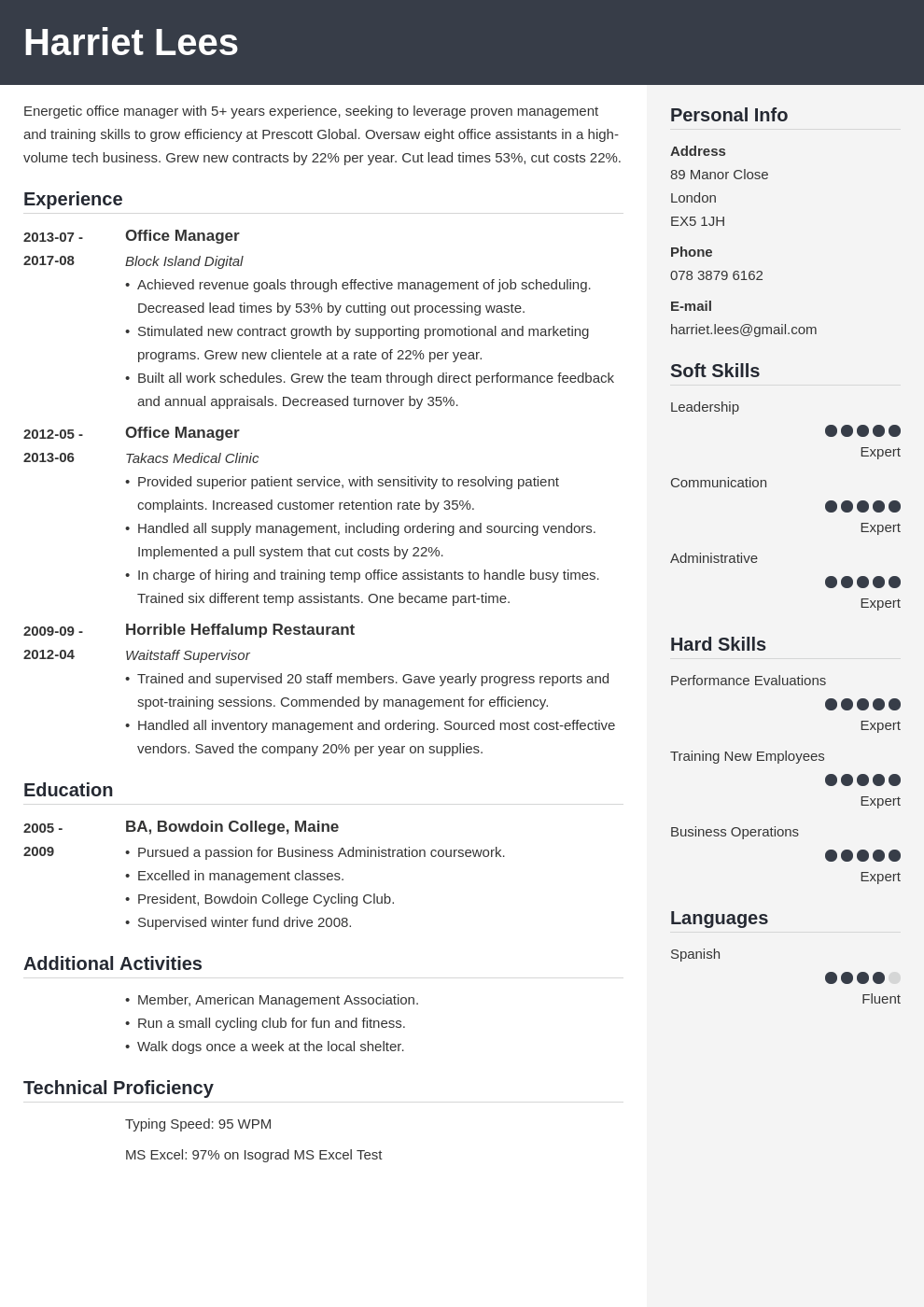 office manager resume example template cubic