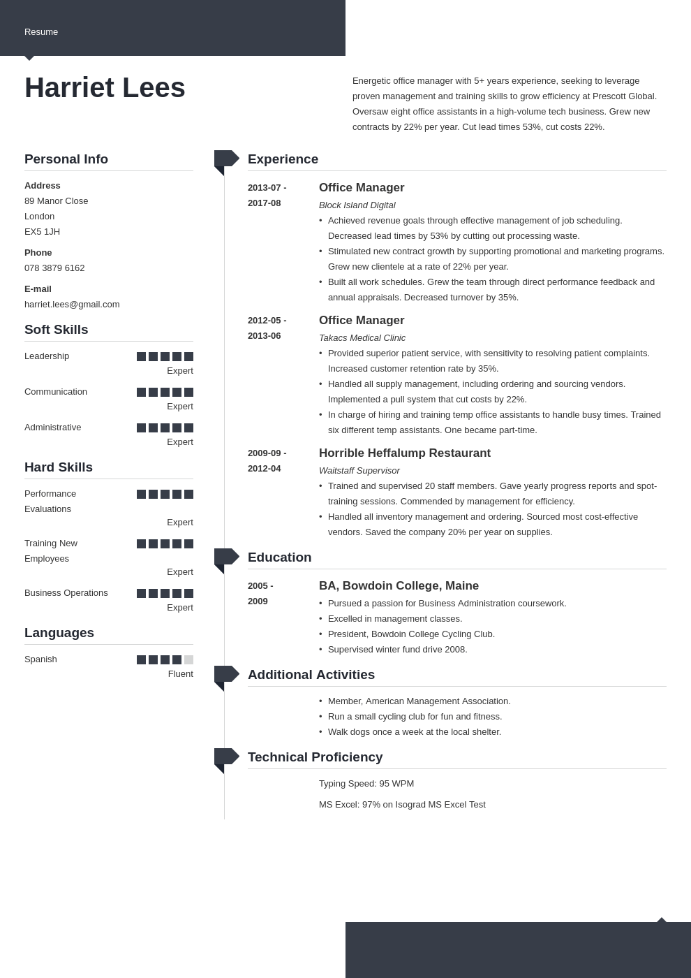 office manager resume example template modern