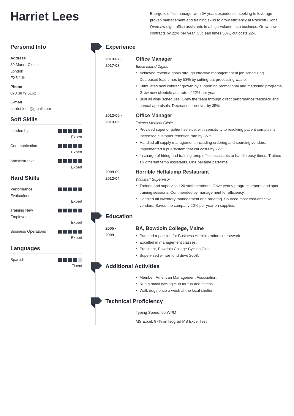 office manager resume example template muse