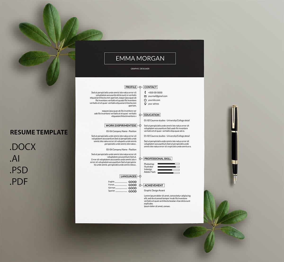 simple one page resume