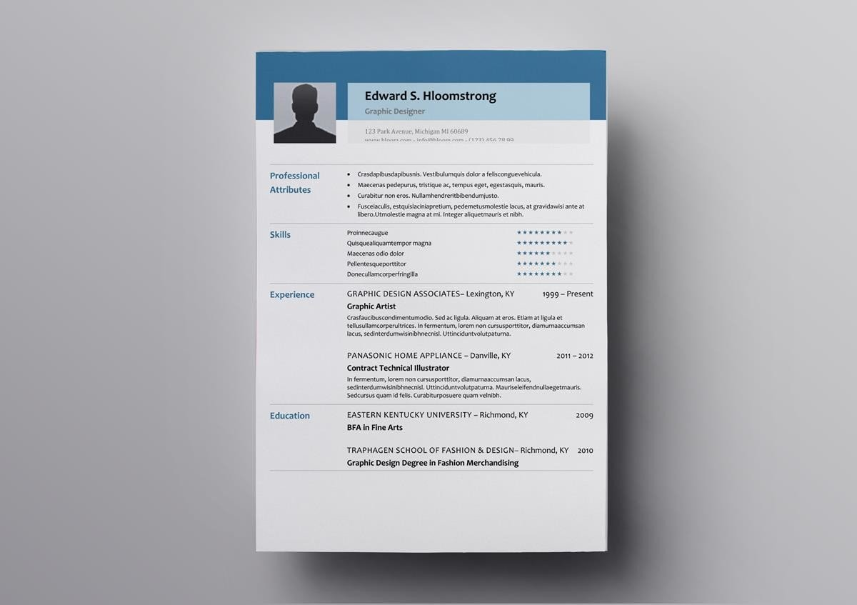 This Free Open Office Resume Template Will Make Your Truly Stand Out It Immediately Draw Any Recruiters Attention Thanks To The Big Heading