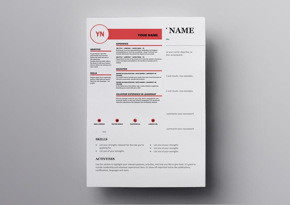 This Resume Template Has Been Created By The Design Agency MOO Use It As A Libre Office To Make Your Truly Stand Out