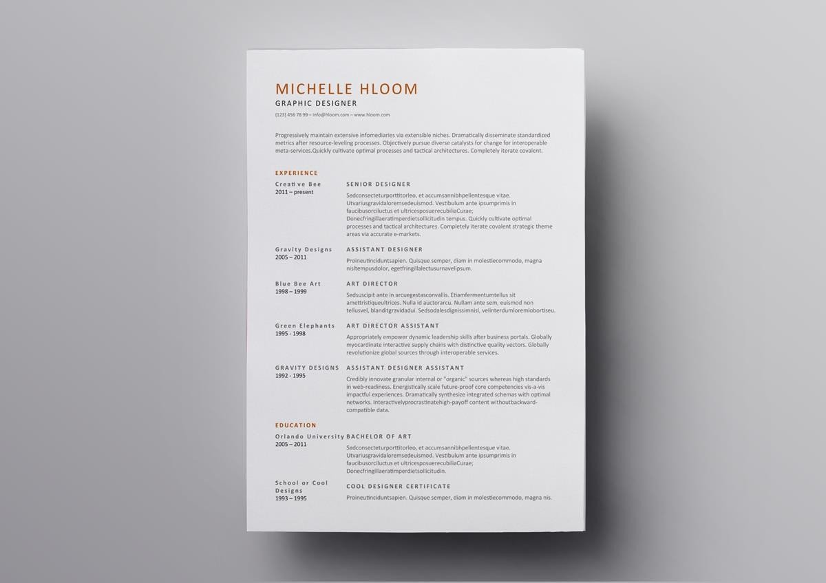 Whats Special About This Open Office Resume Template Is Its Simplicity And Scannability Large Section Titles Make It Easy For The Recruiter To Identify