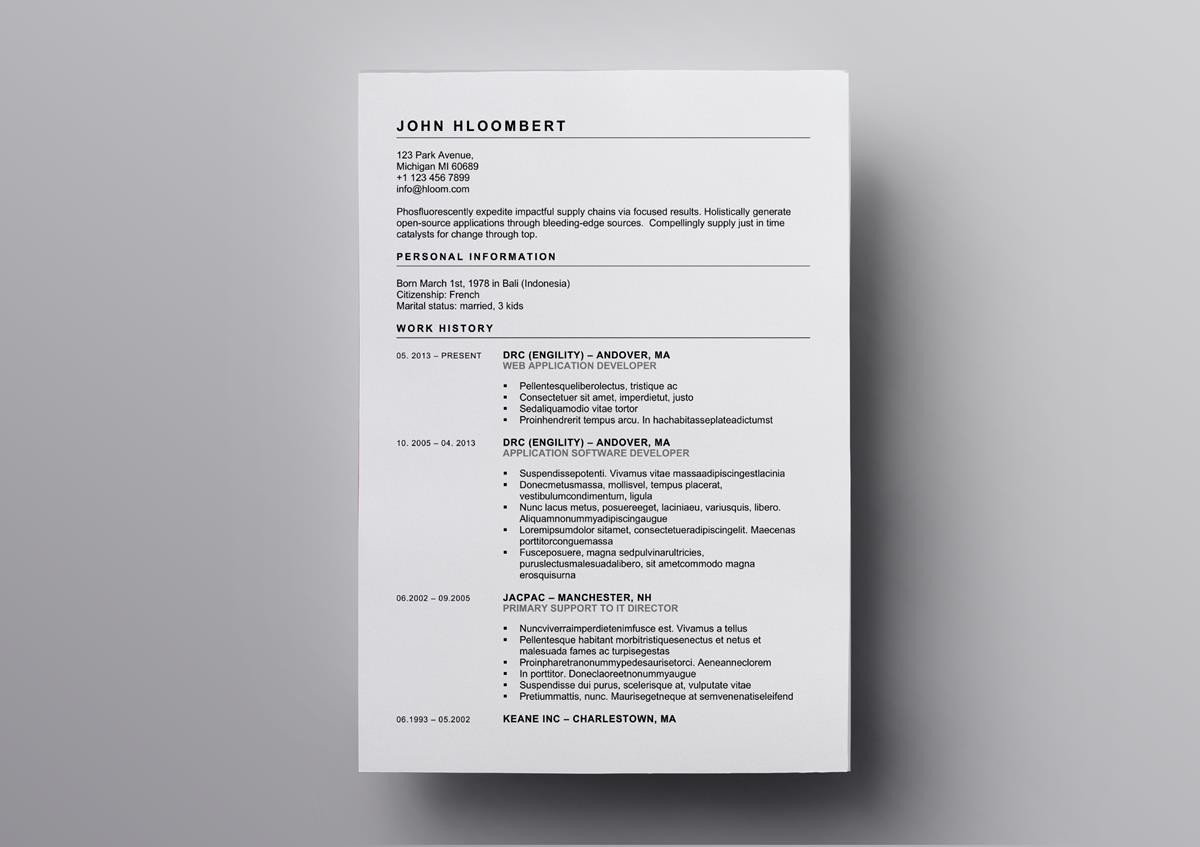 10  free openoffice resume templates  also for libreoffice
