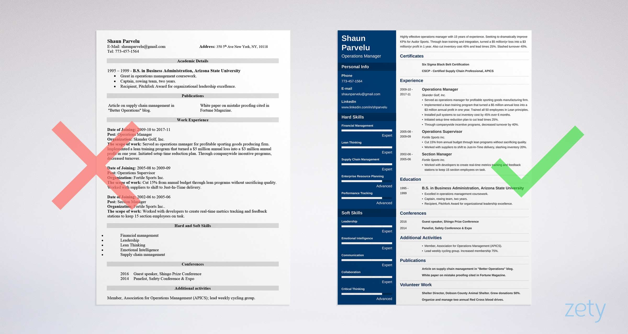 Operations Manager Resume Sample And Complete Guide 20