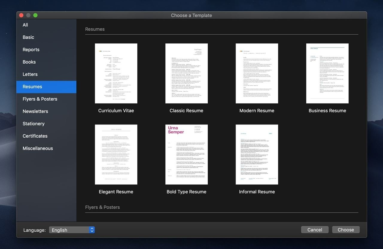 Pages Resume Templates 10 Free Resume Templates For Mac