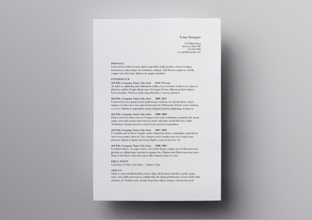 Pages Resume Templates 10 FREE For Mac