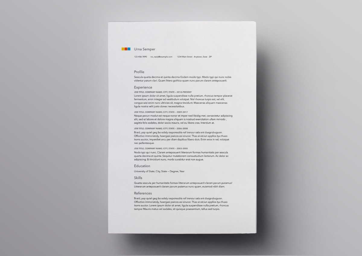 Pages Resume Templates: 10+ FREE Resume Templates for Mac