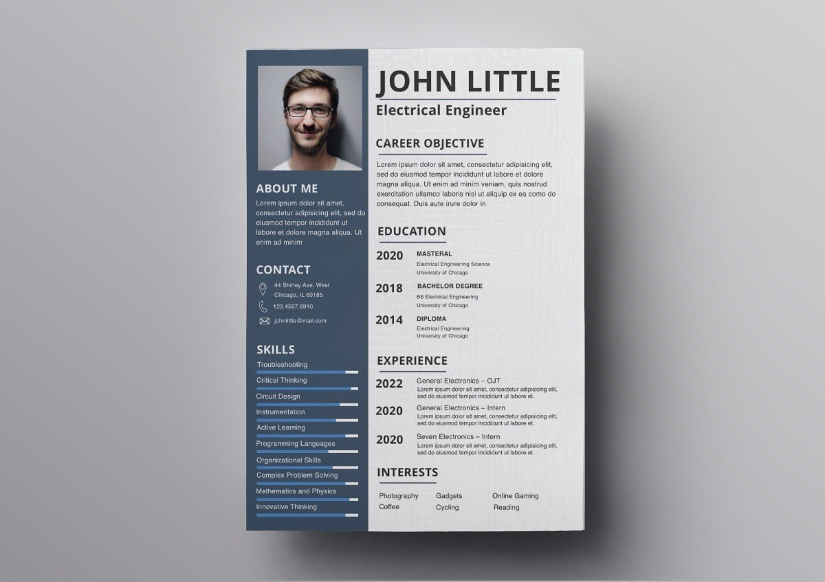 pages resume template