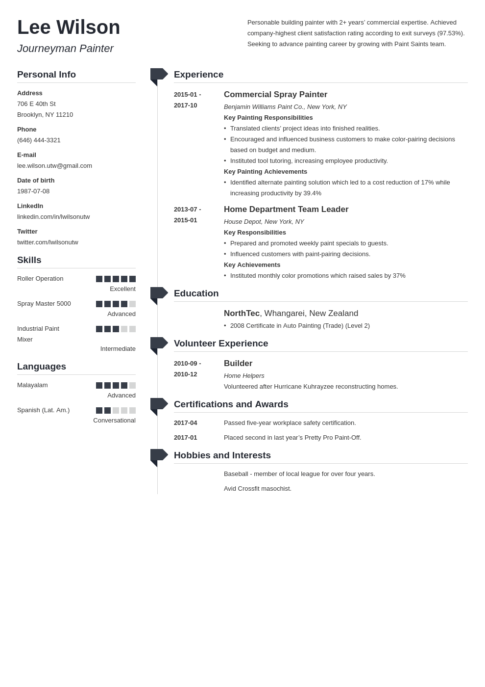 painter resume example template muse