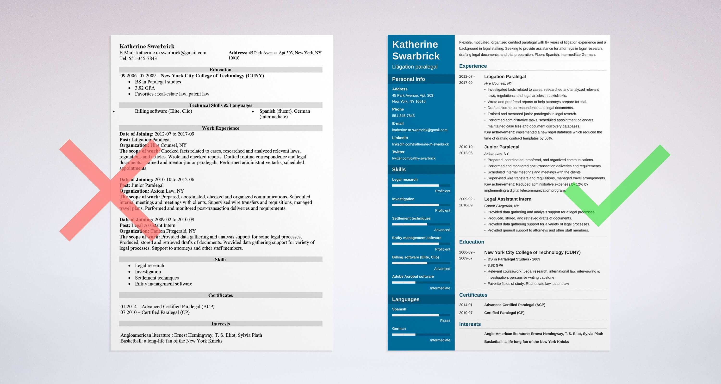 Uptowork  Paralegal Resume Template