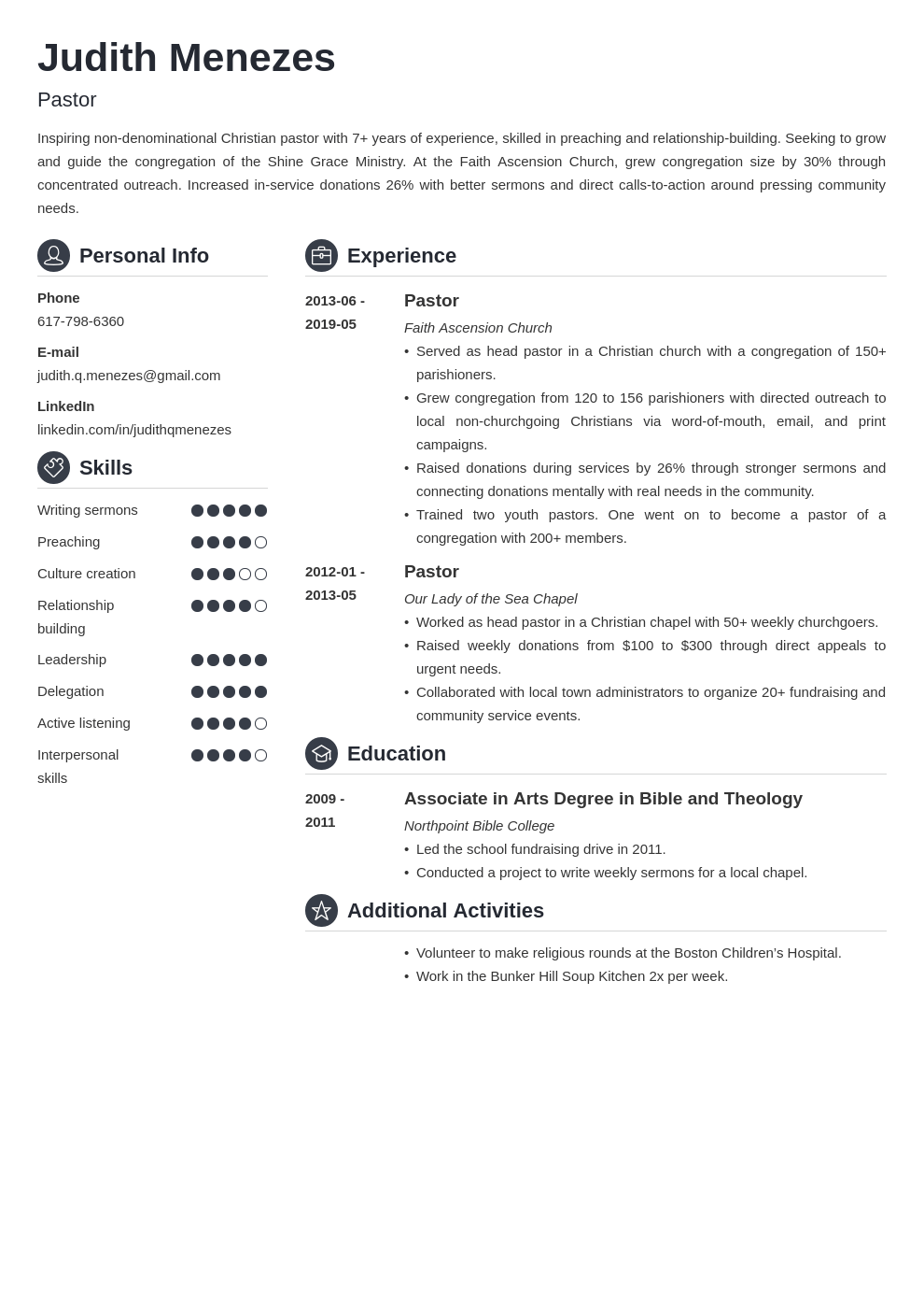 pastor resume template guide  20 examples
