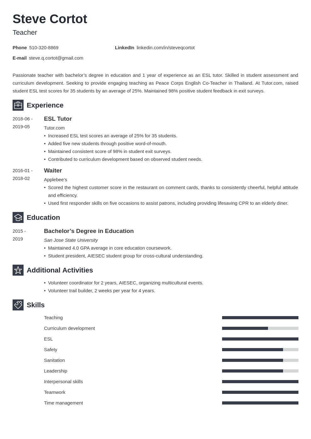 peace corps resume example template newcast
