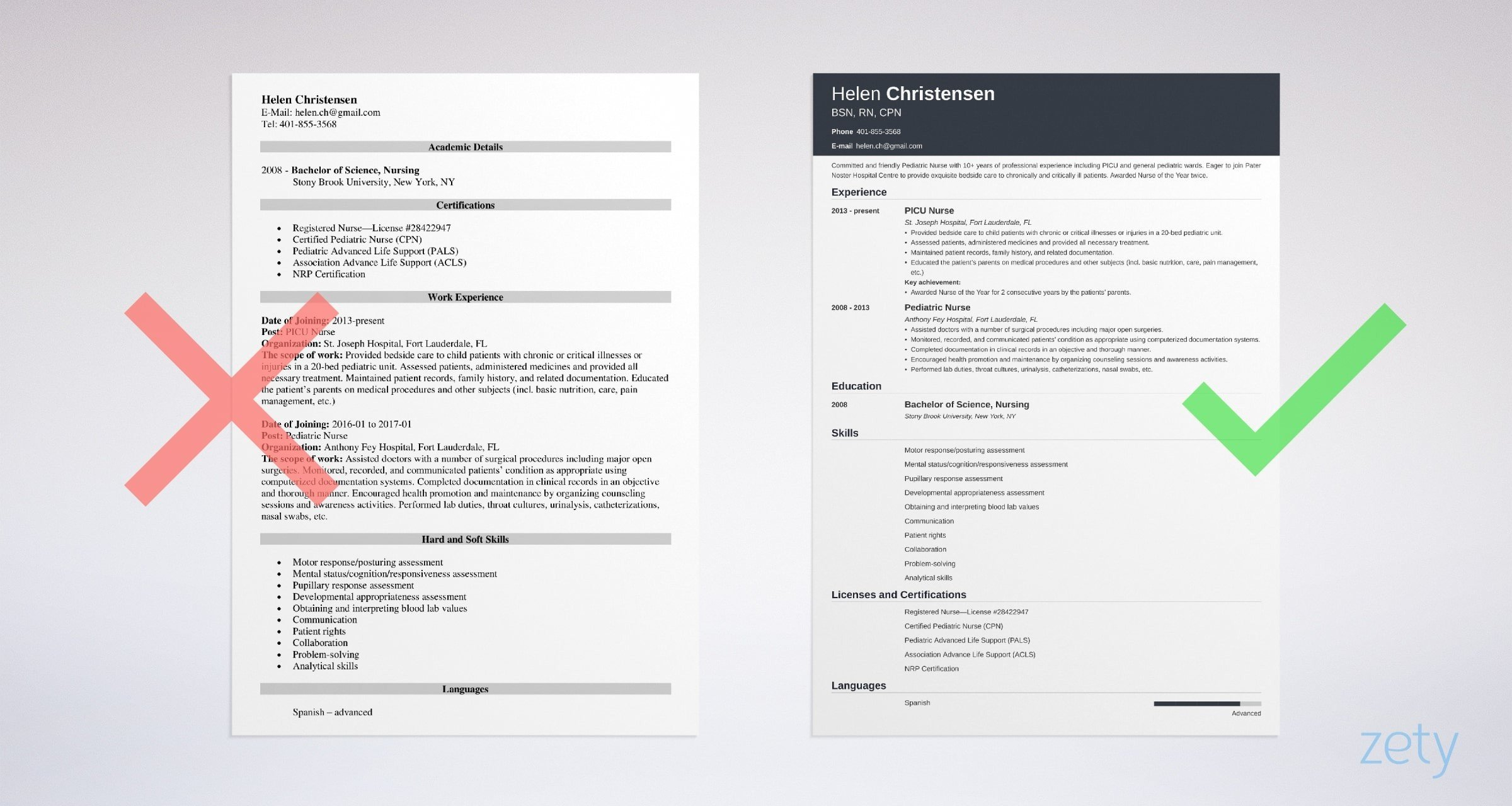 pediatric nurse resume templates