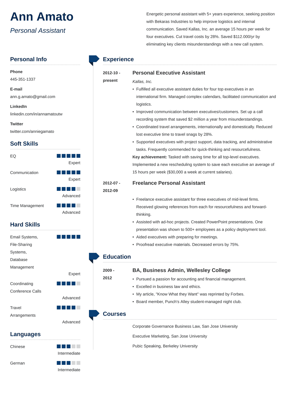 Personal Assistant Resume: Sample & Writing Guide (20+ Examples)
