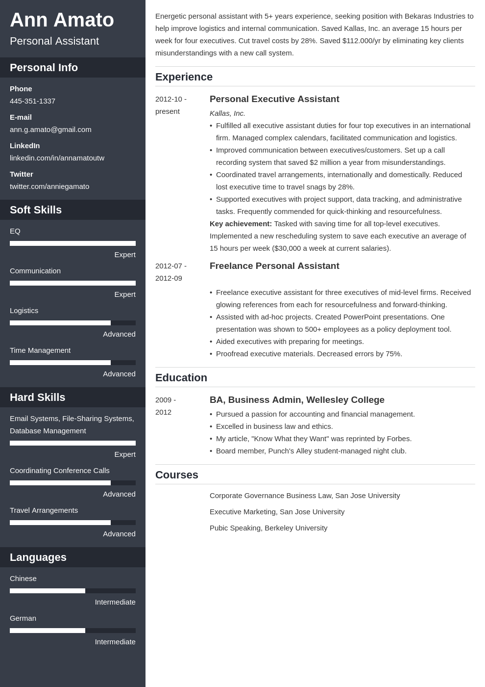 personal assistant resume example template cascade