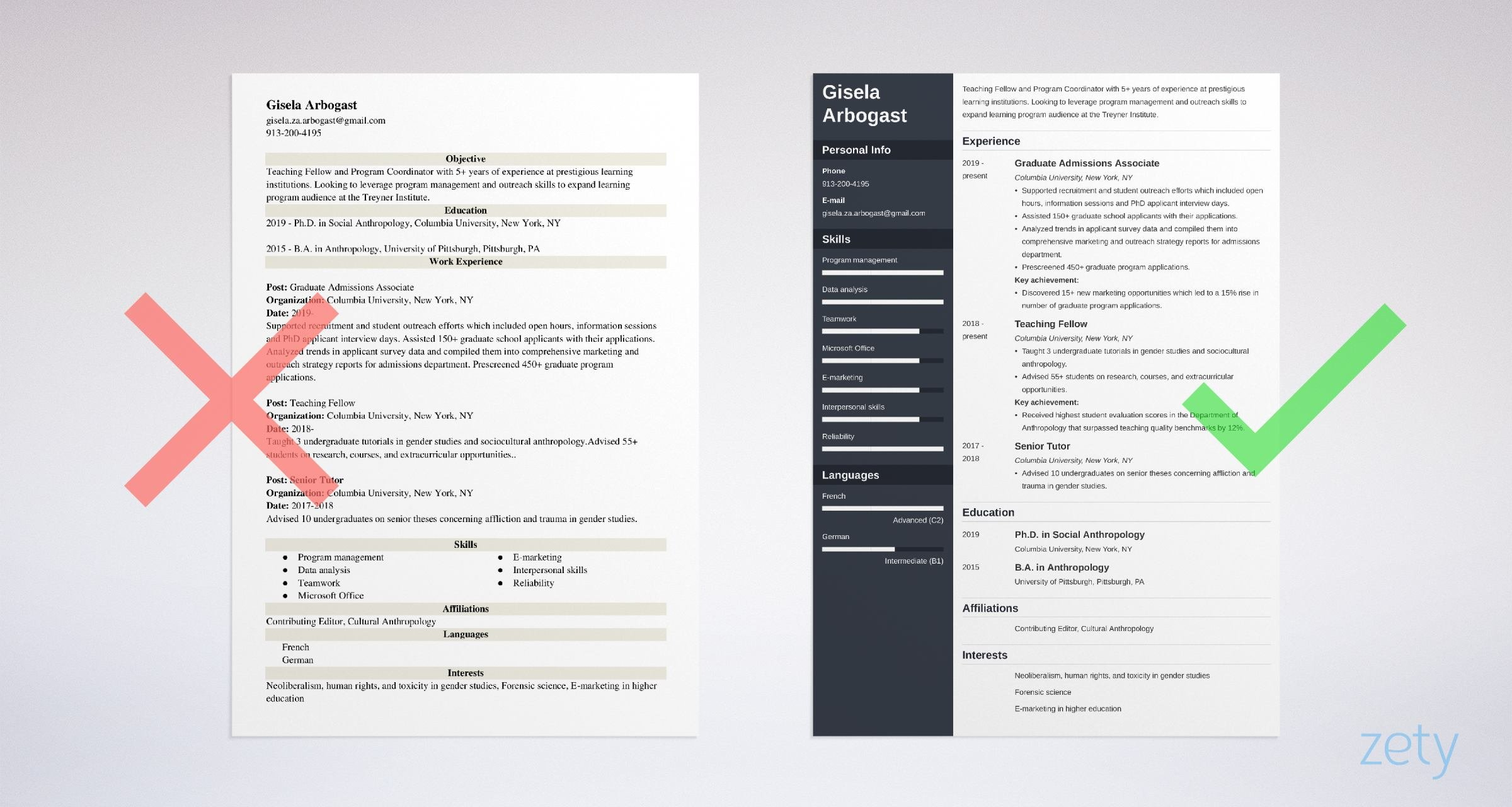 phd resume templates