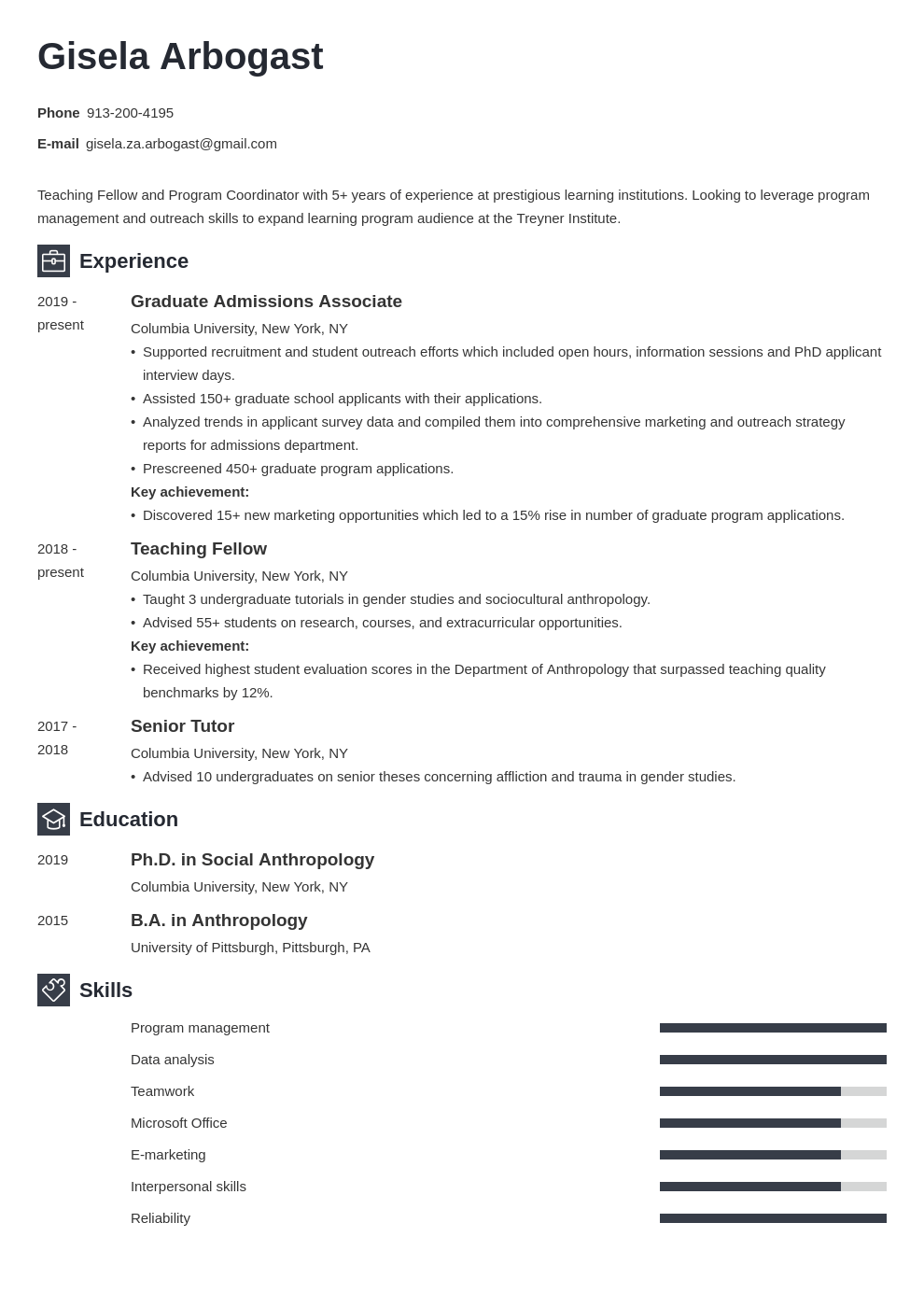 phd resume example template newcast