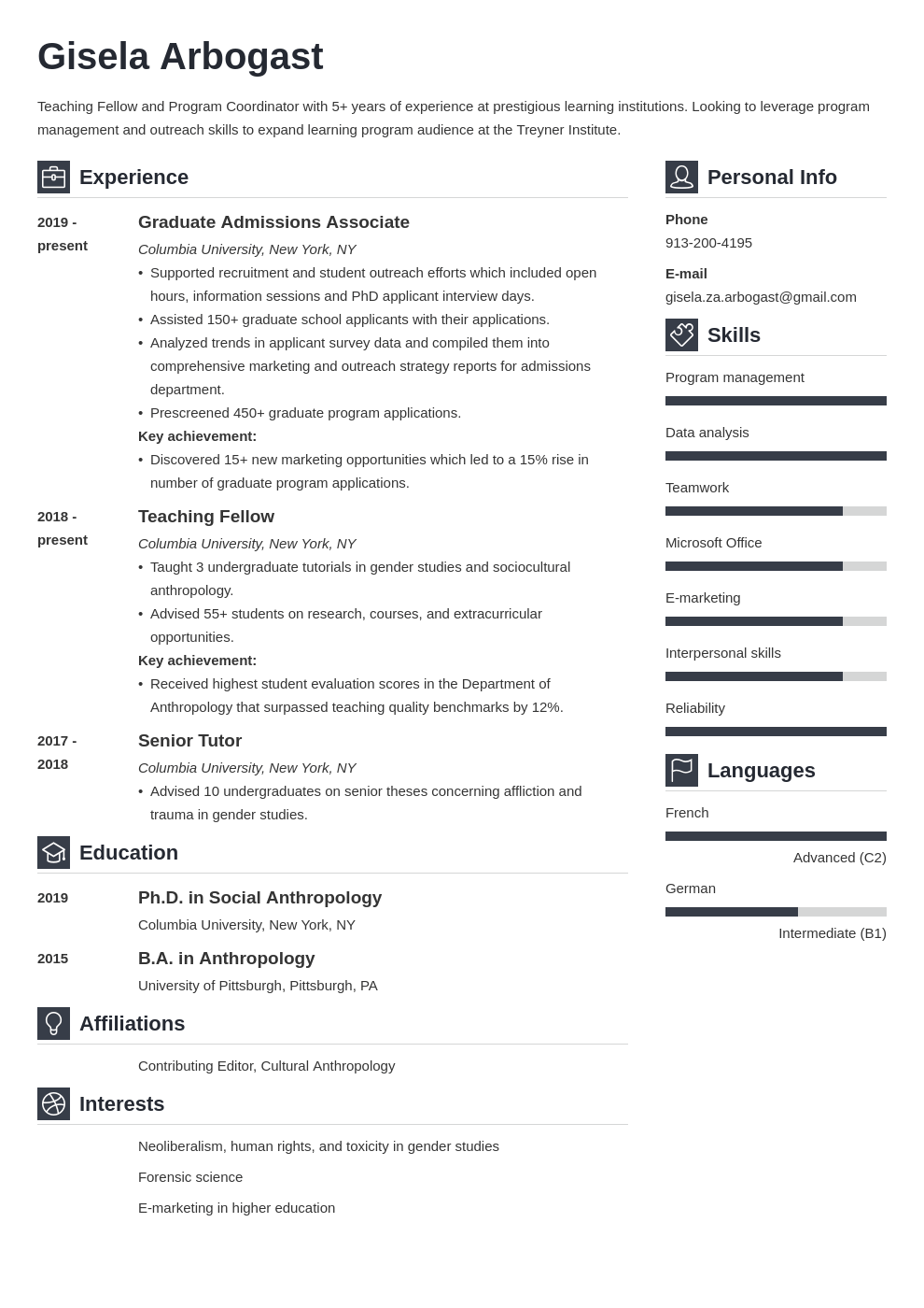 phd resume example template vibes