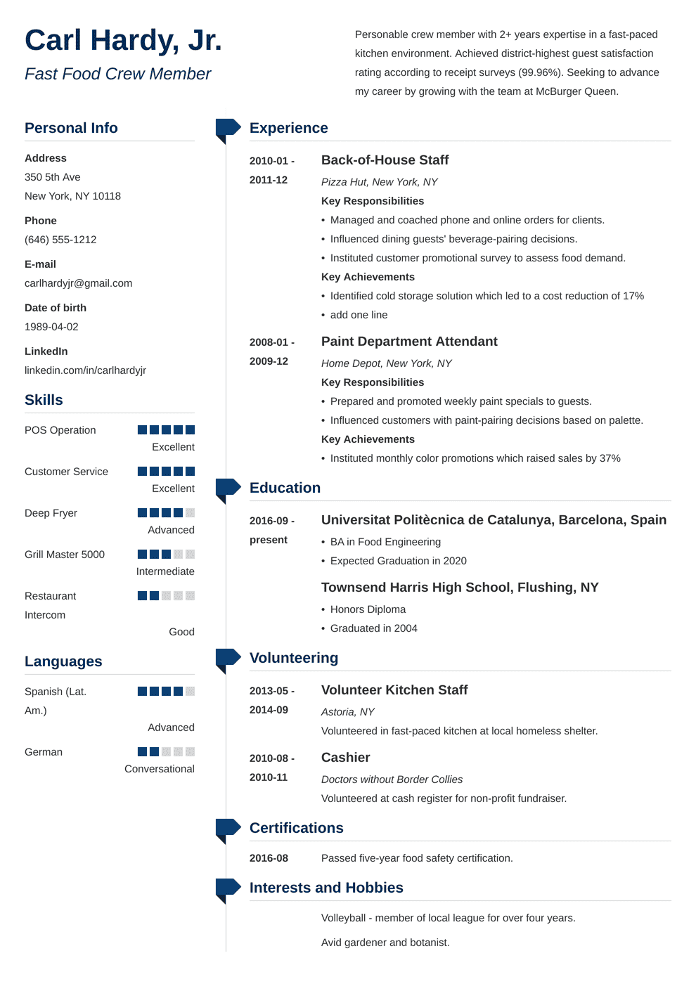 photographer resume examples photography skills template