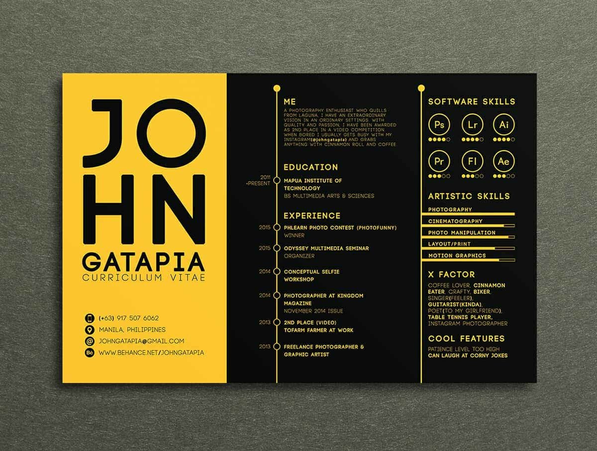 13  photoshop  illustrator   u0026 indesign resume templates to download
