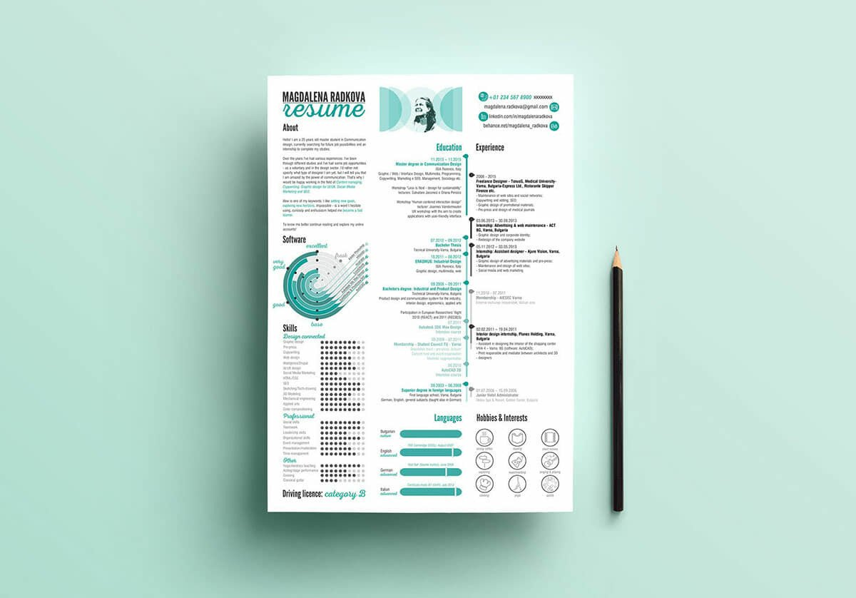 13  photoshop  illustrator   u0026 indesign resume templates