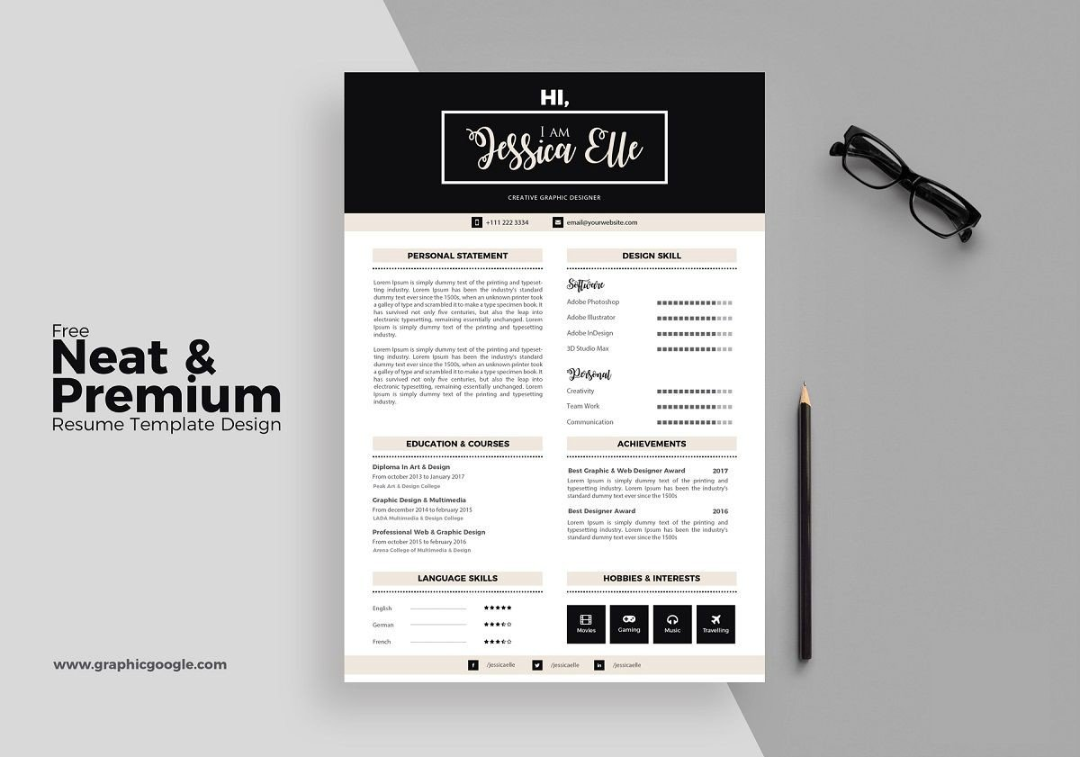 Resume Template Adobe Illustrator 17