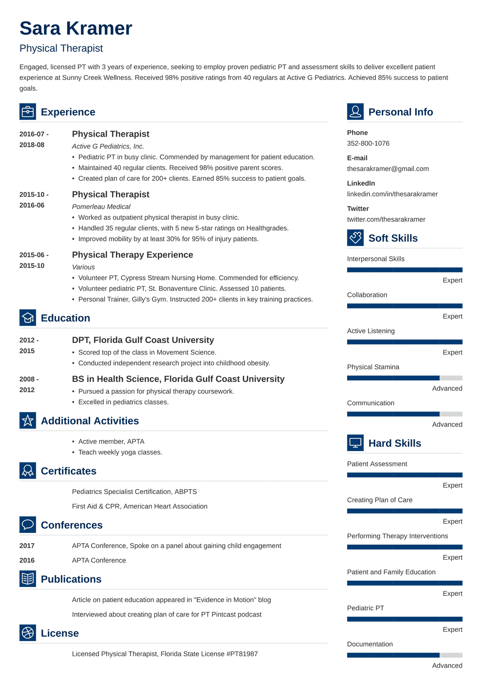 Physical Therapy Resume: Sample and Writing Guide [20+ Examples]