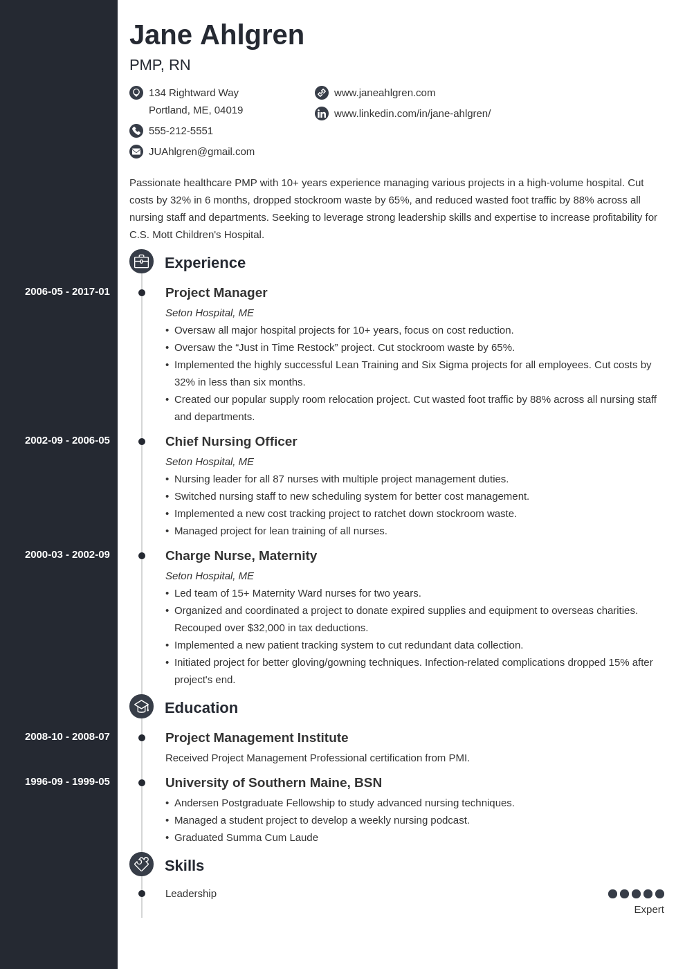 plain text resume example template concept