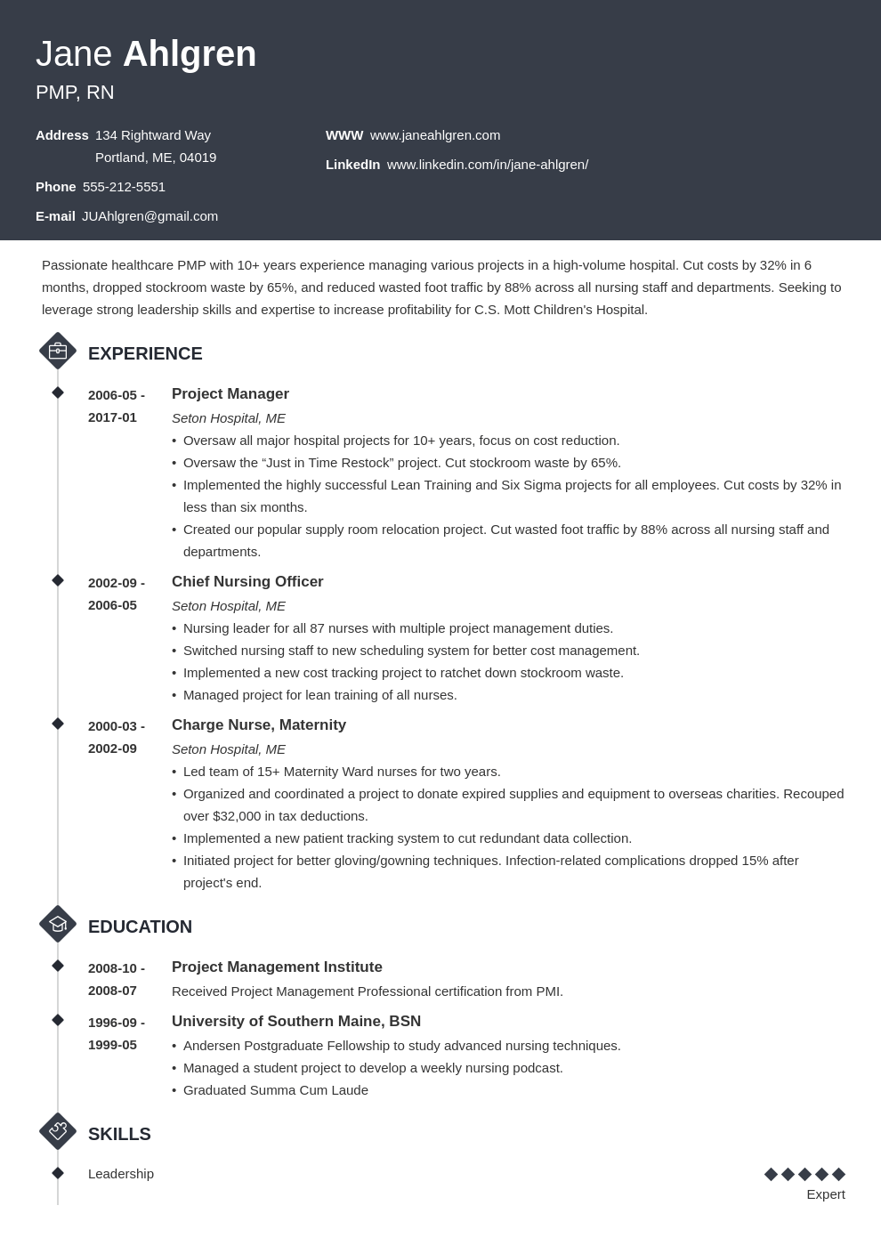 plain text resume example template diamond