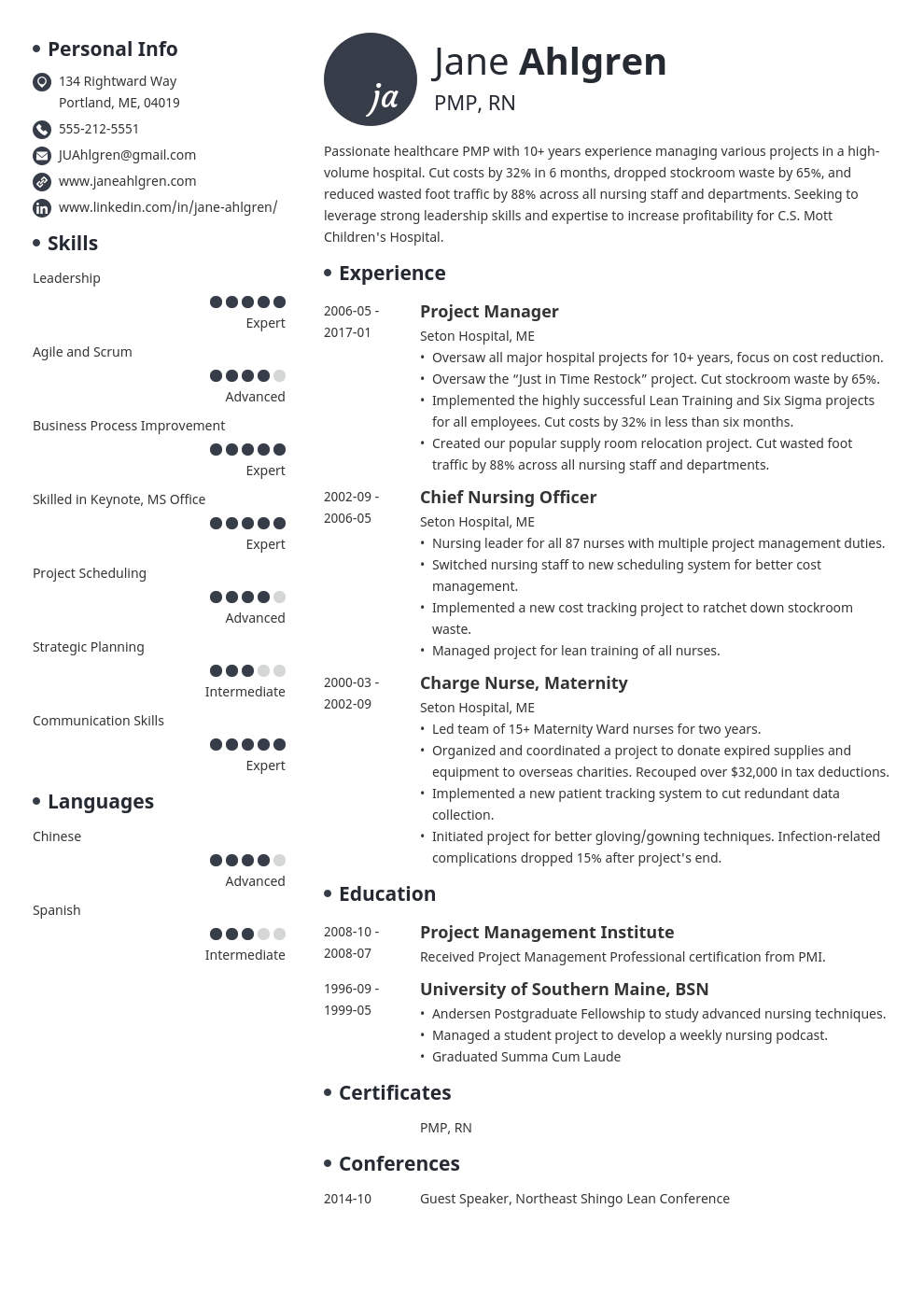 plain text resume example template initials
