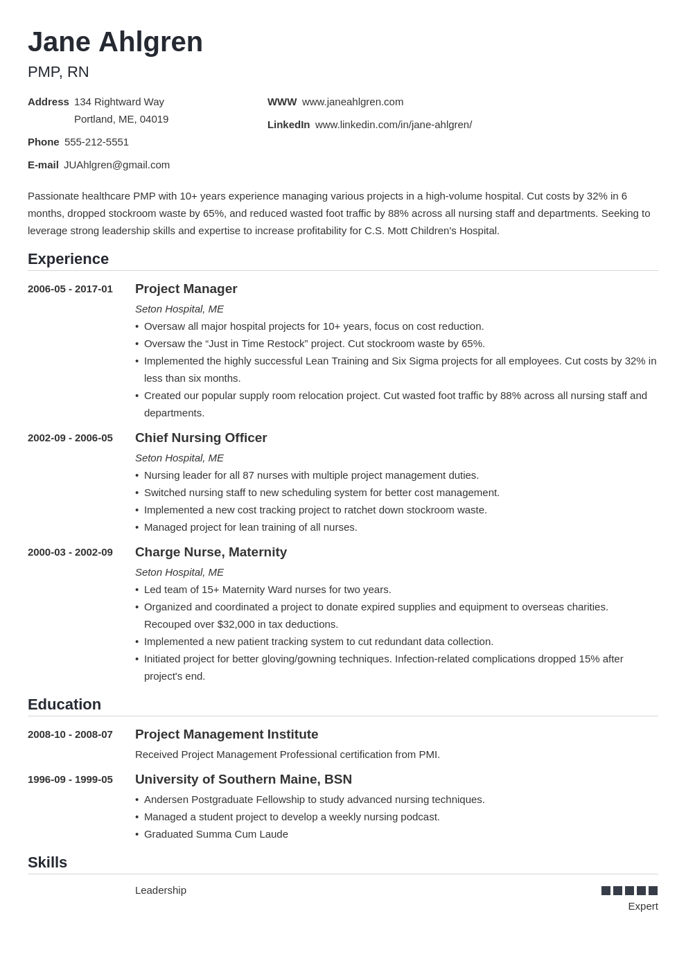 plain text resume example template nanica