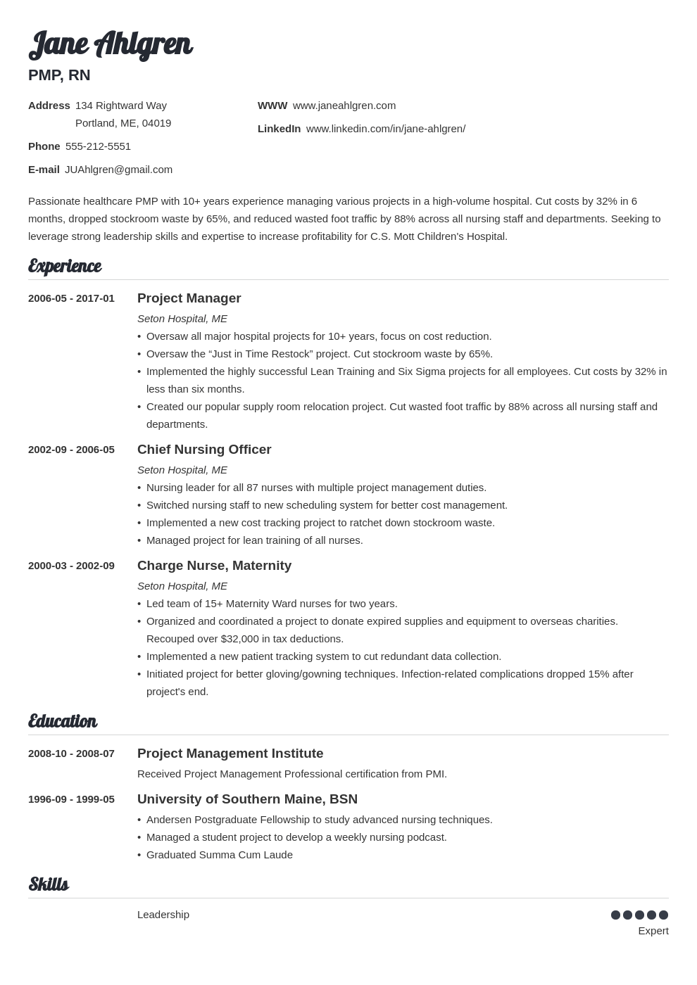plain text resume example template valera